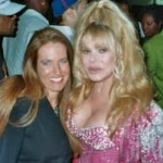 Charlotte Laws and Charo in 2004
